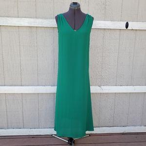NWT J.Crew Sleeveless Flowy Solid Green Maxi Dress